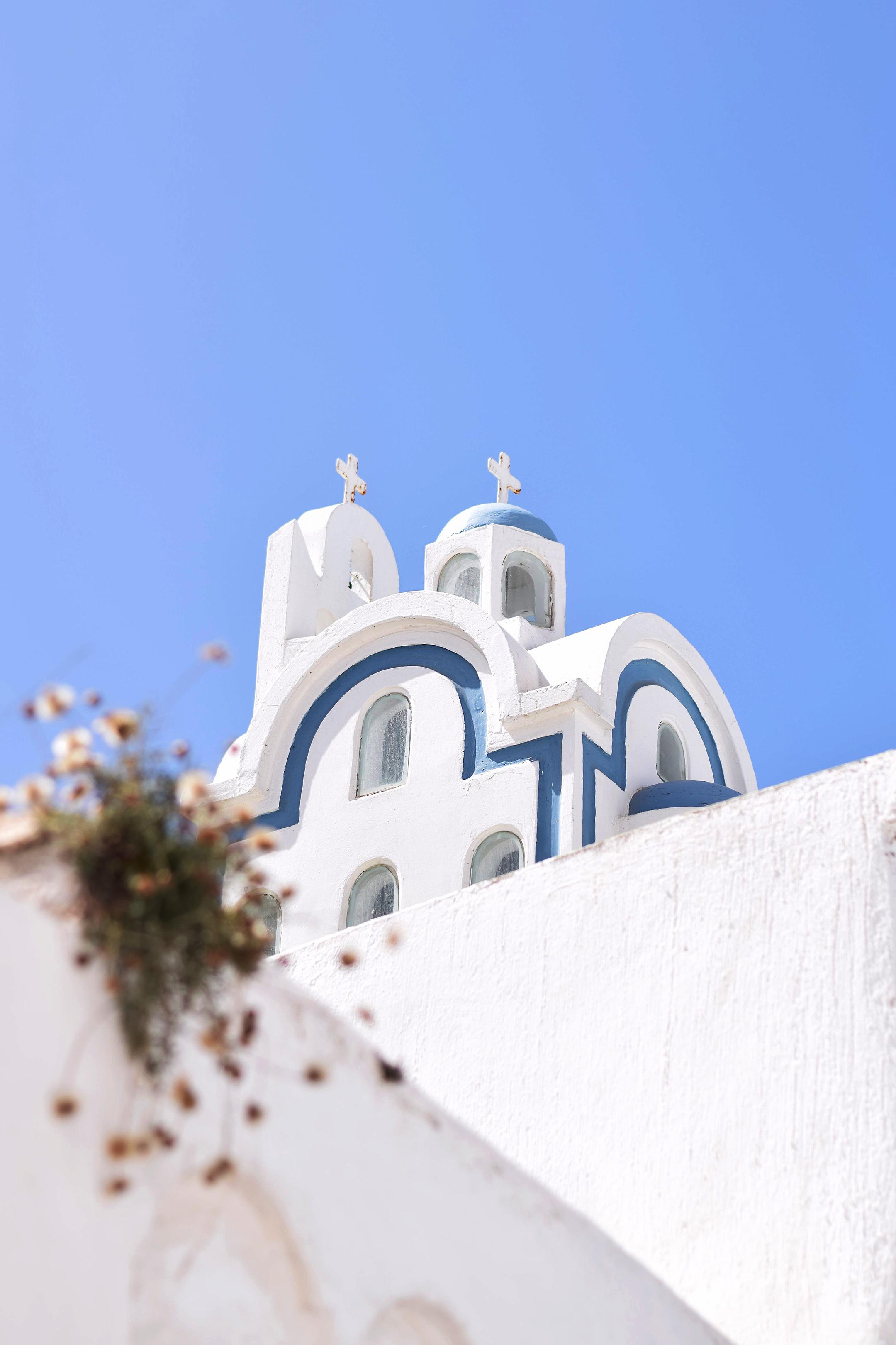 A church in Megalochori, Santorini