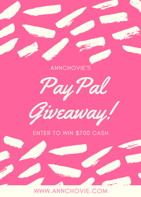 Enter My PayPal Giveaway For $700 Cash! — Annchovie