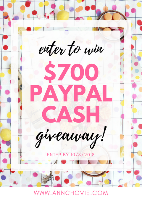 Hi Loves! I've teamed up with some of my favorite Bloggers and YouTubers for a great giveaway! One lucky person will win $700 in PayPal Cash. Check the blog post for more details on how to enter! Winner will be announced by 10/8. Good luck!   #GIVEAWAY   #GIVEAWAYALERT   #WIN   #COMPETITION   #RAFFLECOPTER   #HAVEYOUENTERED  
