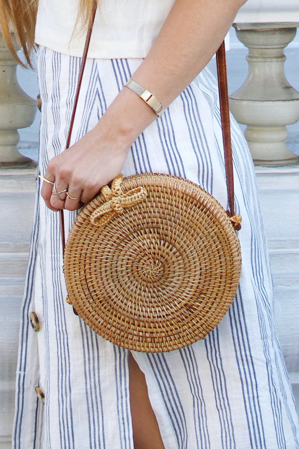 A gorgeous rattan bag from Wish. It's such a perfect travel bag for tropical climates.