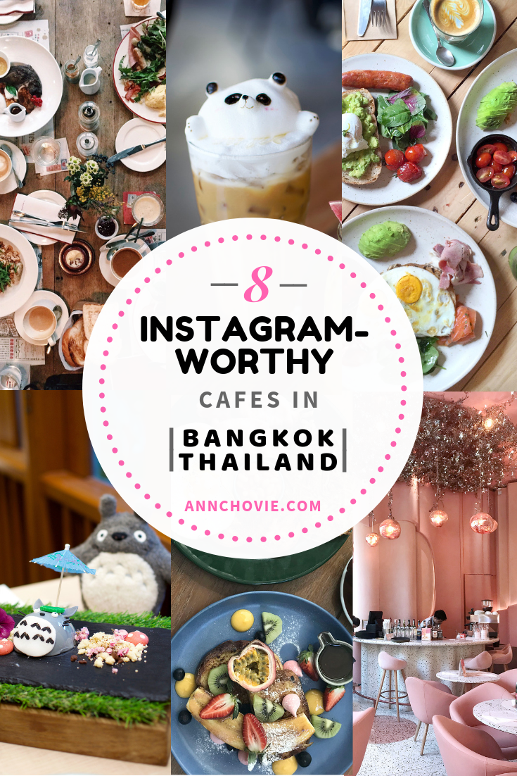 Bangkok is filled with amazing foodie destinations worthy of your next photo-op! On the blog I'm sharing with you my top 8 Instagram-worthy cafes in Bangkok Thailand. The list is sure to waken your inner foodie, and you'll be planning your trip to Thailand in no time! Are you hungry yet? 😋  #travelguide   #foodieguide   #TravelThailand  #Instagrammable #InstagramWorthy #thingstodo #travelBangkok #bestplacestoeat #wheretoeat