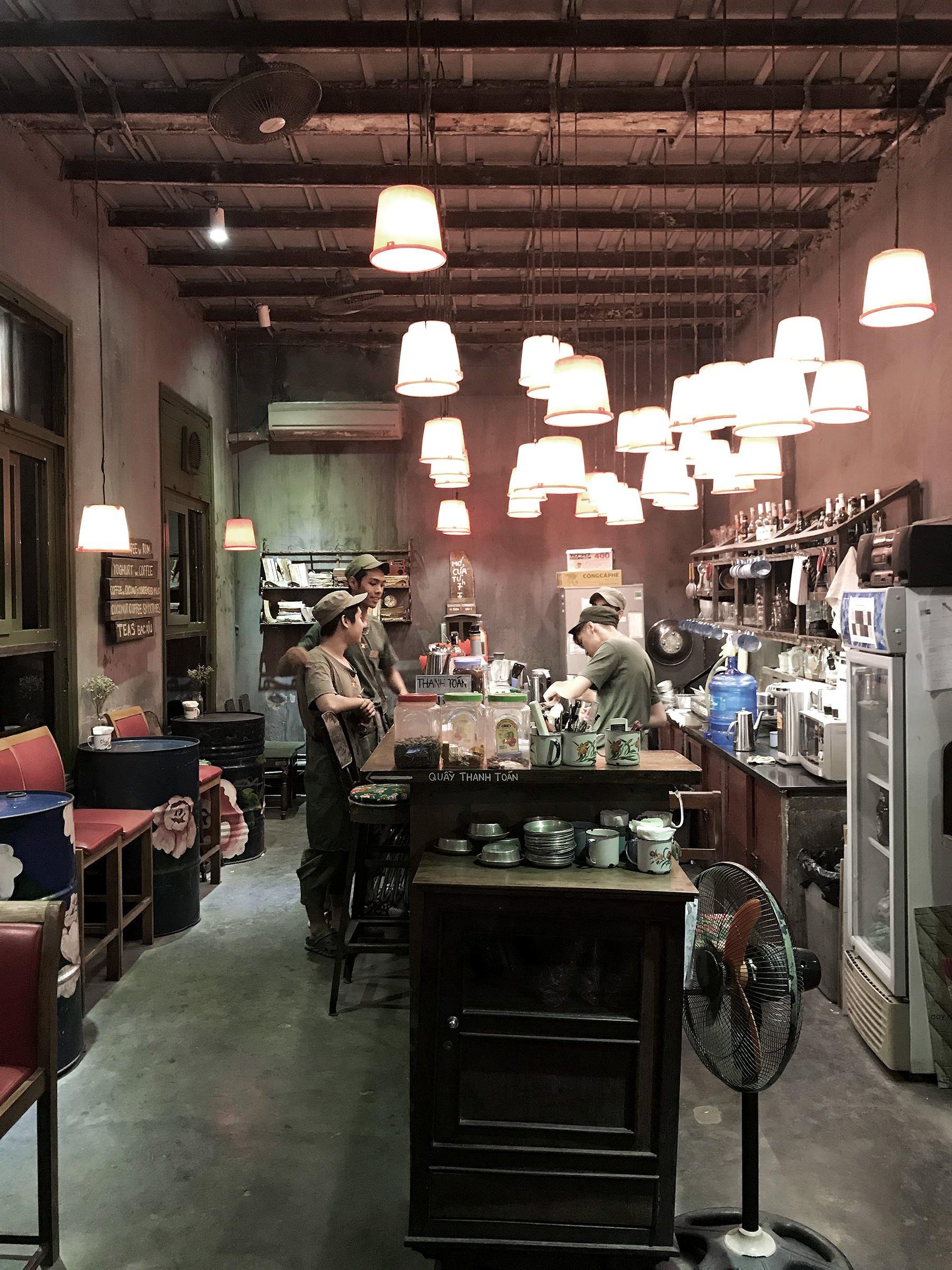 CONG CAPHE - MILITARY INSPIRED CAFE HARKING BACK TO WAR-ERA VIETNAM