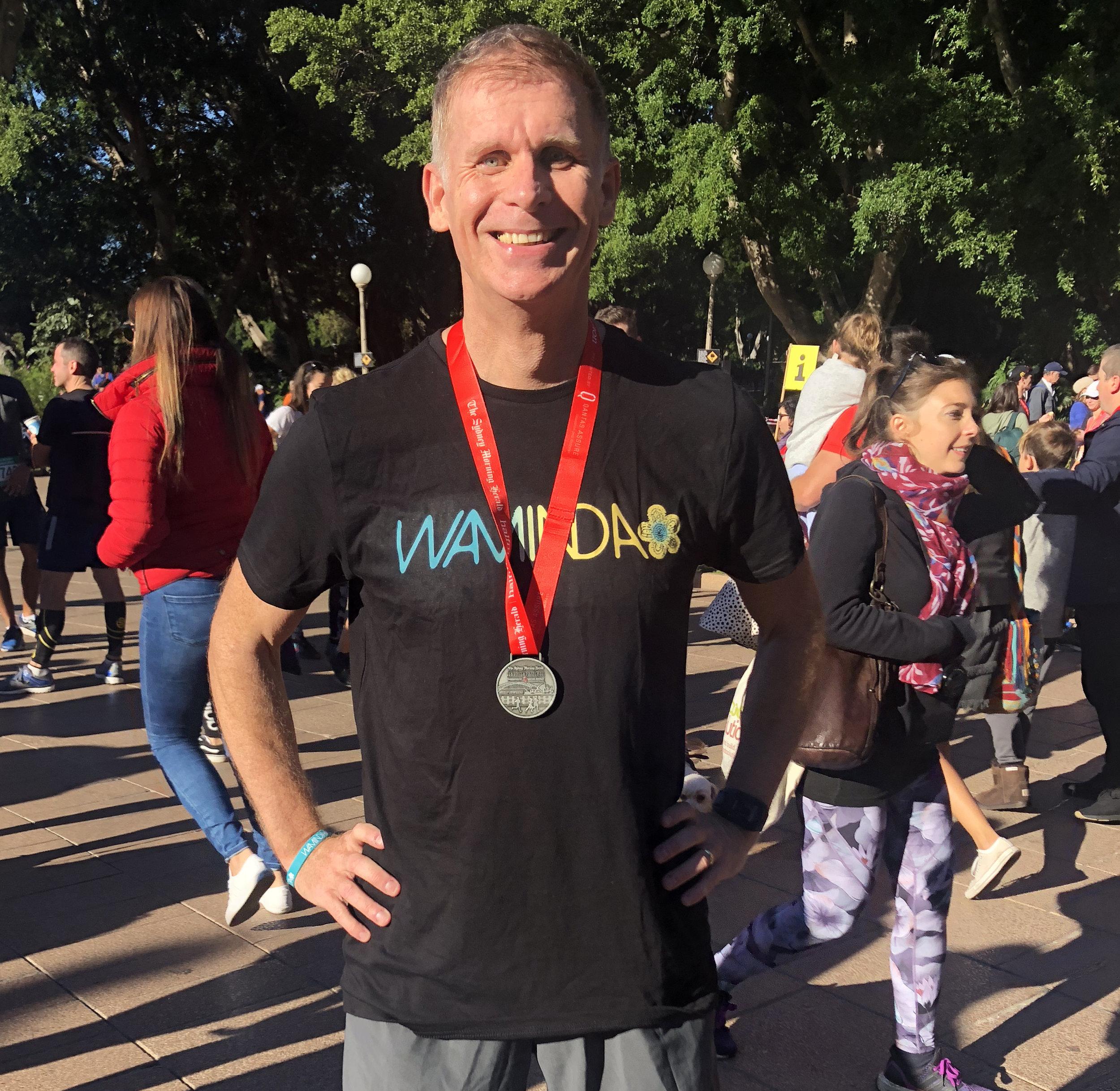 Robbie MacPherson in the Sydney Morning Herald Half Marathon 2018