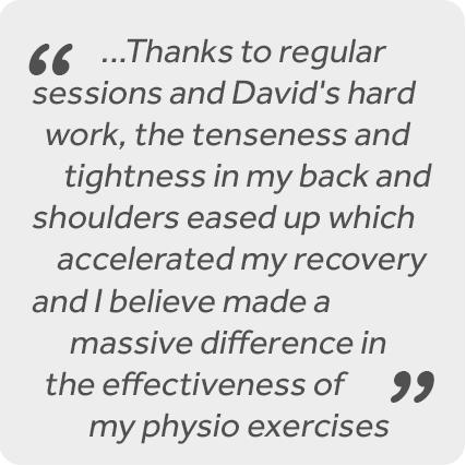 David Wells. Sports Massage Therapist.