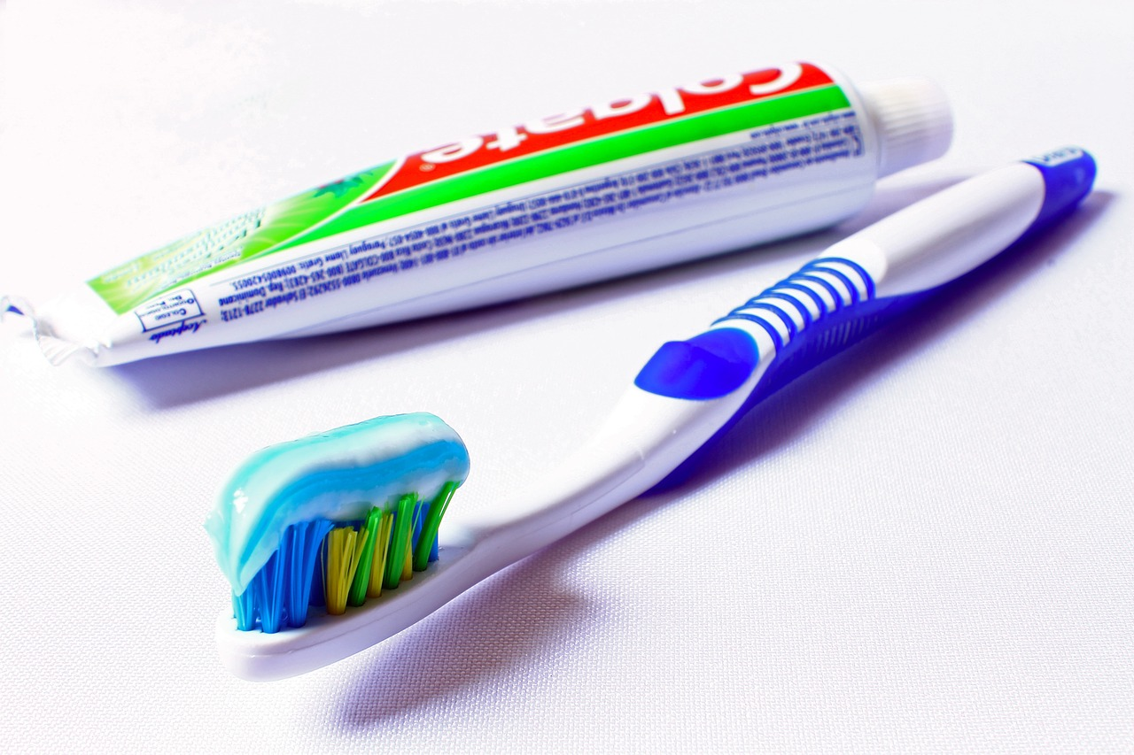 Stretch while brushing your teeth!