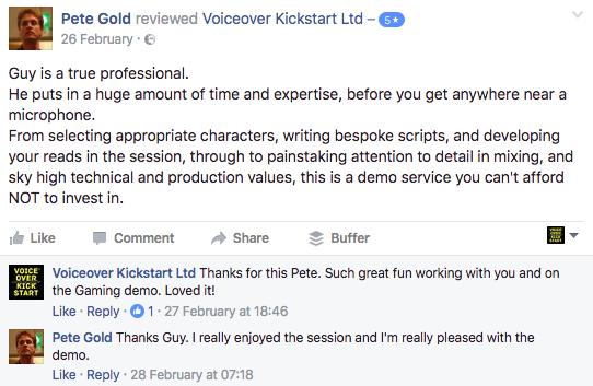Voice-Reel Clients + Testimonials & Customer Reviews