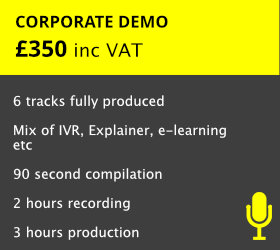 For Voiceovers needing a high-class demo for the business world   READ MORE