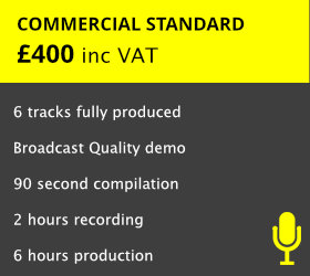 An industry standard Commercial Voiceover Demo produced to Broadcast Quality   READ MORE