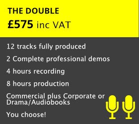Customised to your needs.  Two fully produced Voiceover Demos for two markets   READ MORE