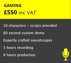 Unique demo service for demonstrating your character voices.  Produced to sound just like the real thing!    READ MORE