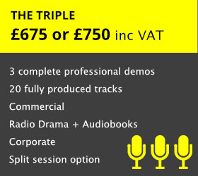 You can choose to either record this in a single day or split the session over two days.  Be fully prepared for three Voiceover Markets   READ MORE