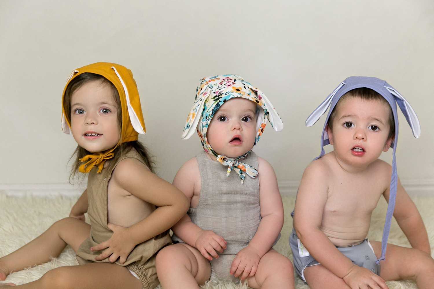 easter styled photo shoot bonnet bunny gold coast commercial photography topknot girl children babies