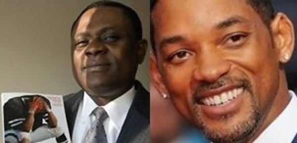 """Will Smith plays Dr. Bennet Omalu in the film """"Concussion"""" being released on Christmas Day. Source:https://babajidesalu.files.wordpress.com/2015/09/will_smith-bennet-omalu-jide-salu.jpg"""