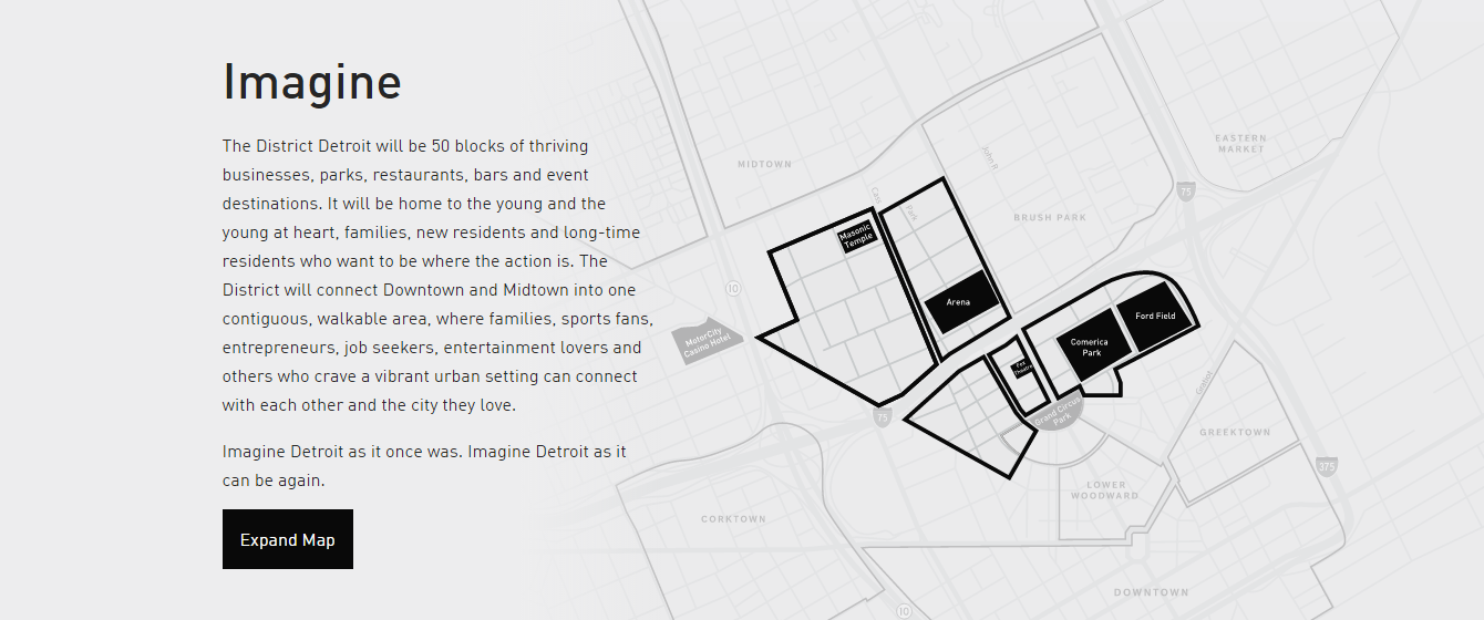 Source: The District Detroit website homepage.