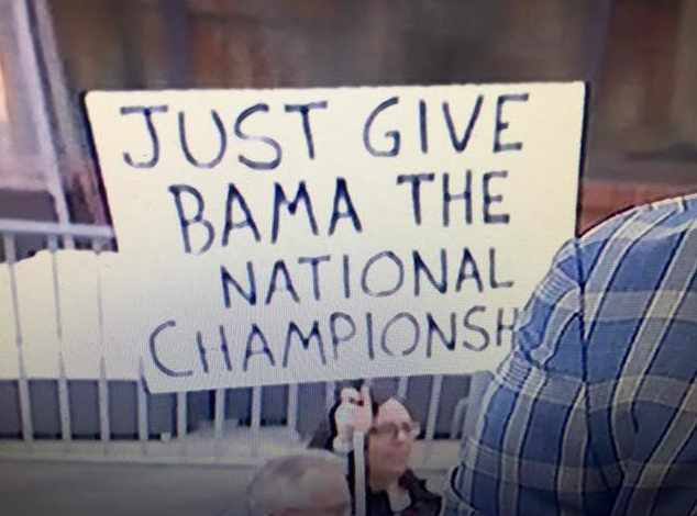 Sign from ESPN's College Gameday at the 2016 Big Ten Championship between Wisconsin & Penn State.