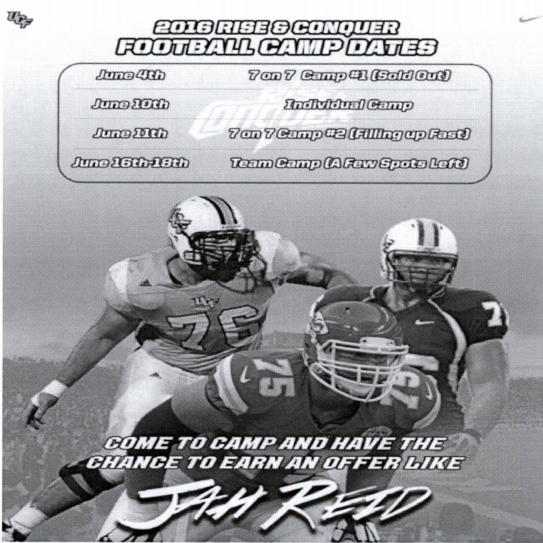 An image from the UCF Recruiting Brochure at issue.