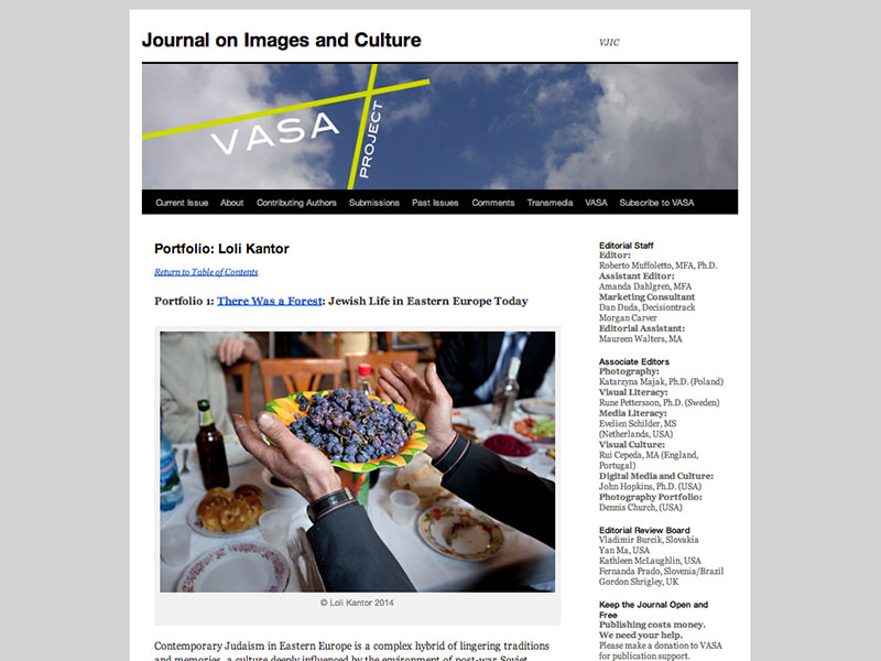 Vasa Project Journal on Images and Culture January, 2014