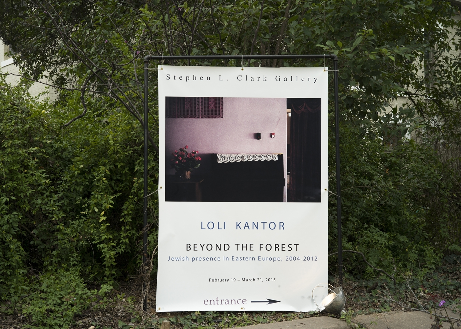STEPHEN CLARK GALLERY:     BEYOND THE FOREST     JEWISH PRESENCE IN EASTERN EUROPE,      2004-2012     ON VIEW UNTIL MARCH 21. 2015 1101 W. SIXTH STREET, AUSTIN, TX 78703      T: +1-512-477-0828 Gallery hours Tue–Sat: 10 a.m.–4 p.m.  Or By Appointment    SIGNED BOOKS ARE AVAILABLE AT THE GALLERY!