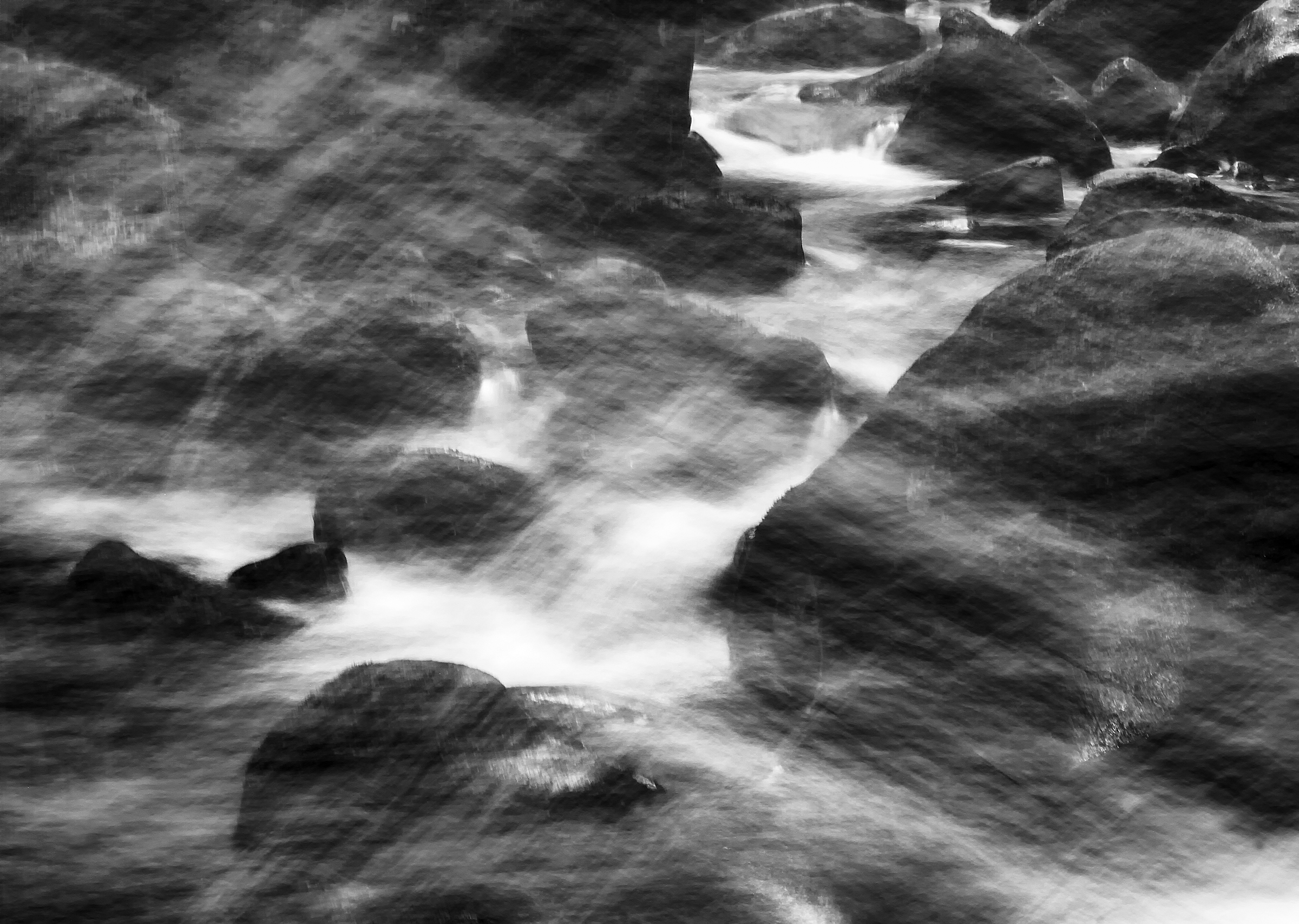 My last exposure, taken as my tripod and camera slid into the Saluda river.  Canon 7D, Canon 24-70mm f/2.8L. ISO 100 6.0 sec