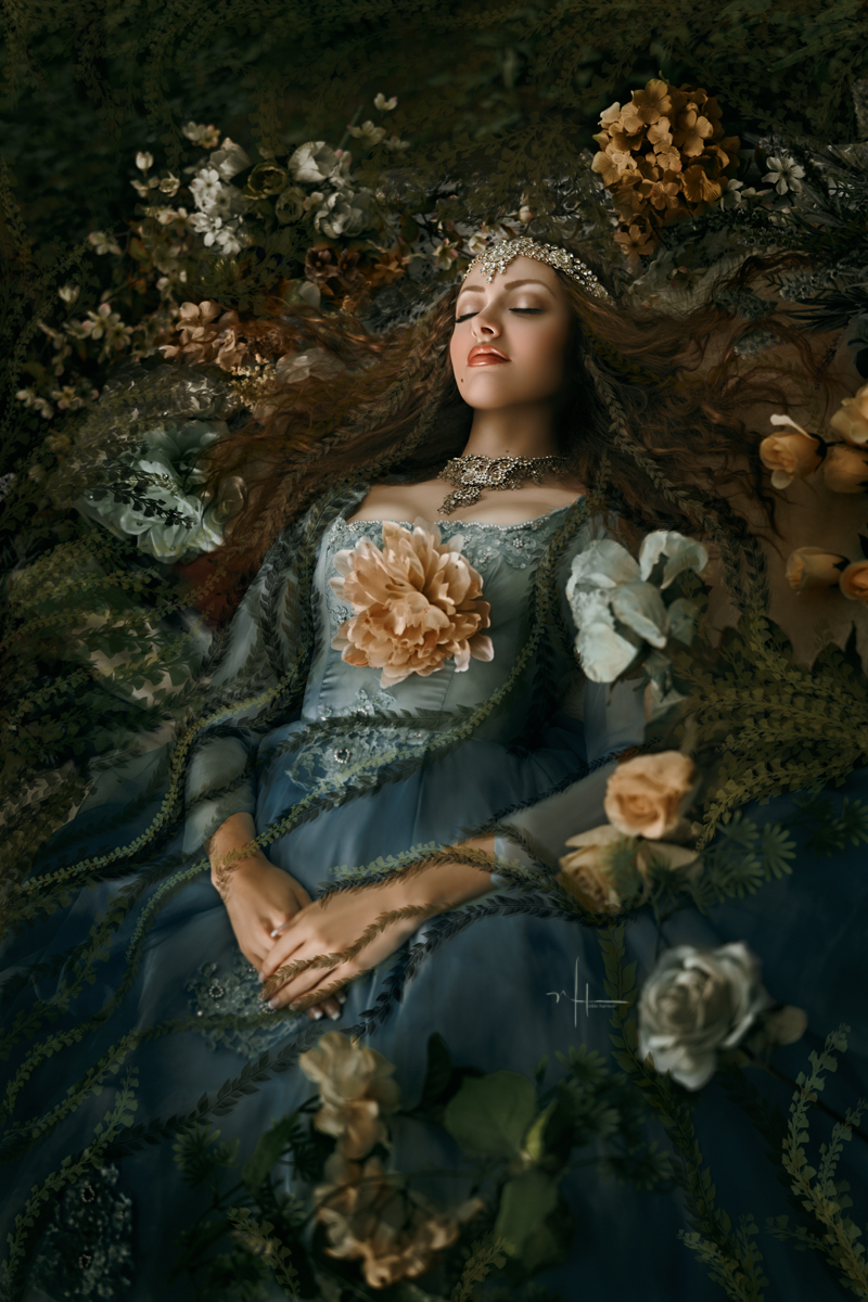 Sleeping Beauty was lost in the forest for 100 years, waiting for her Prince Charming to find her and release her from the magical spell the wicked witch placed on her.