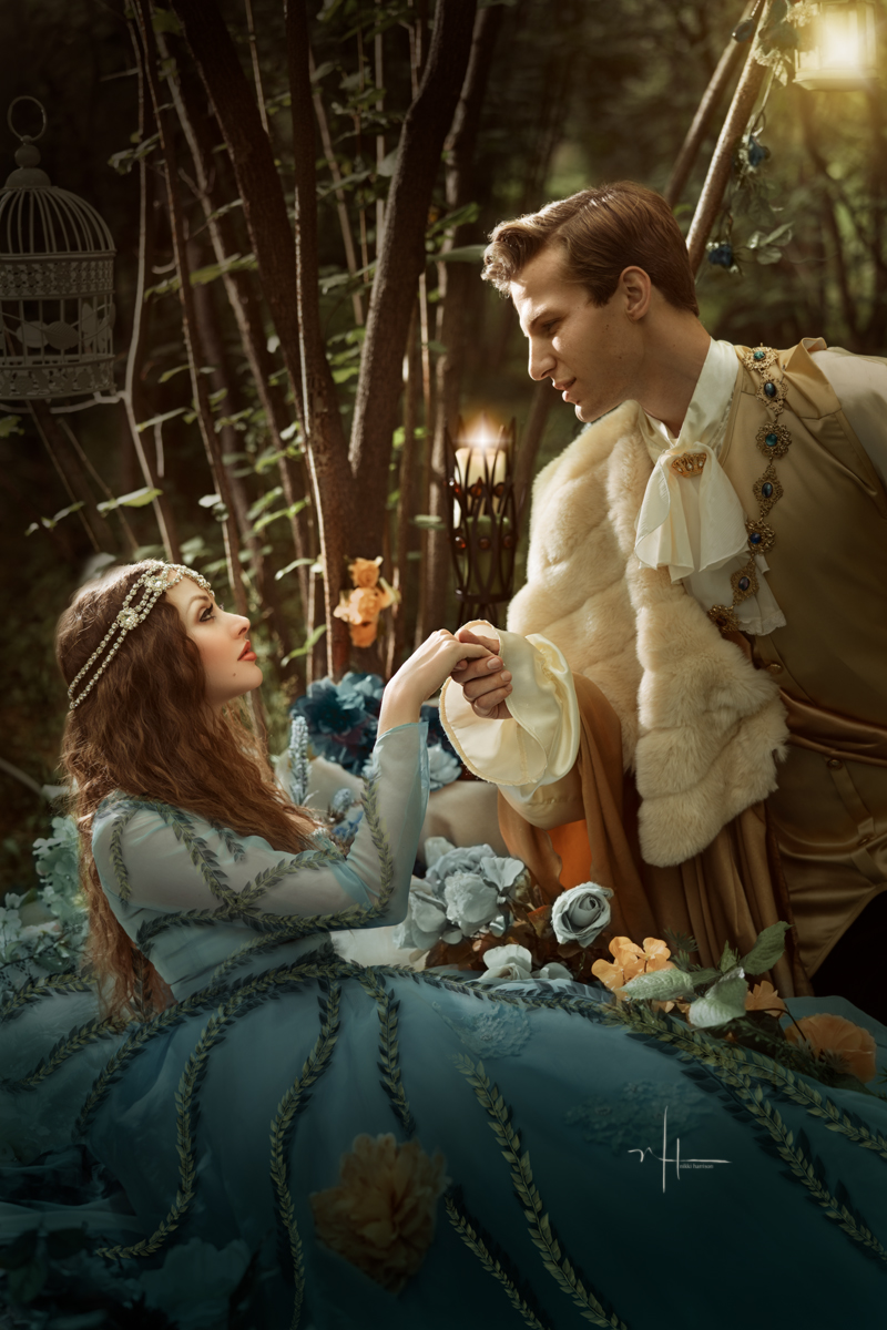 Suddenly, her eyes fluttered, opened and Sleeping Beauty sat up. Prince Charming was amazed and incredibly happy.