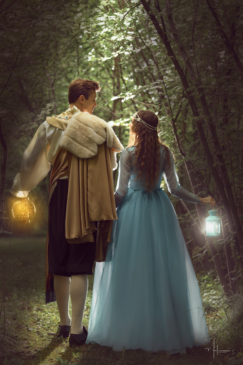 Prince Charming led Sleeping Beauty out of the secret forest grove, excited to bring her back to the Royal Palace and introduce his love to his Kingdom.