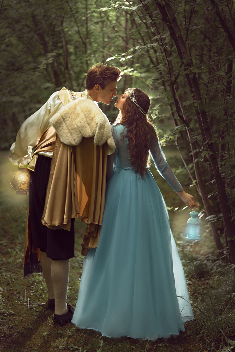 "Prince Charming takes her hand, pulls her close and whispers, ""My Love, lets go home.""  And they lived happily ever after…..    THE END"