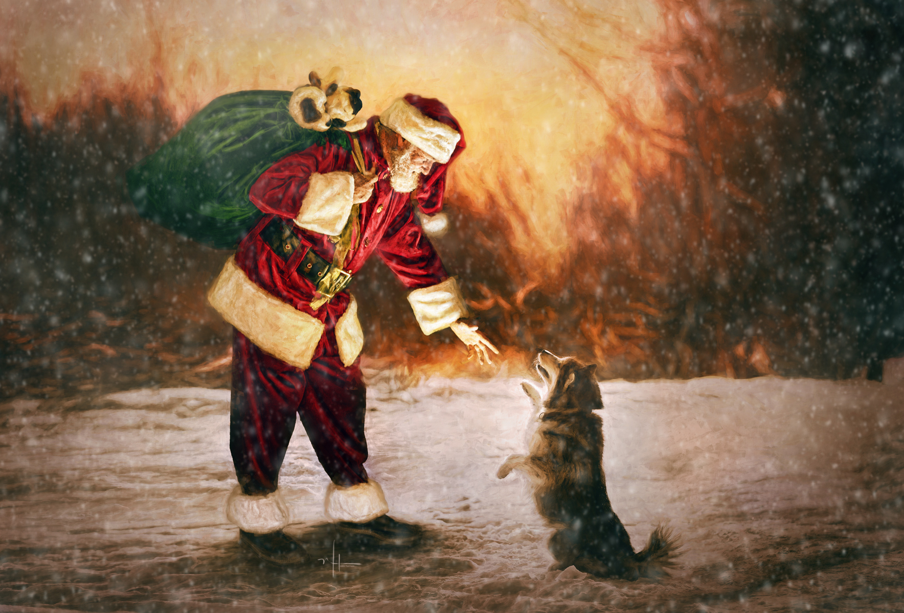 The Epitome of an actual interactive experience with Santa. This is not just a photo session, its a memory that you will cherish forever in art.