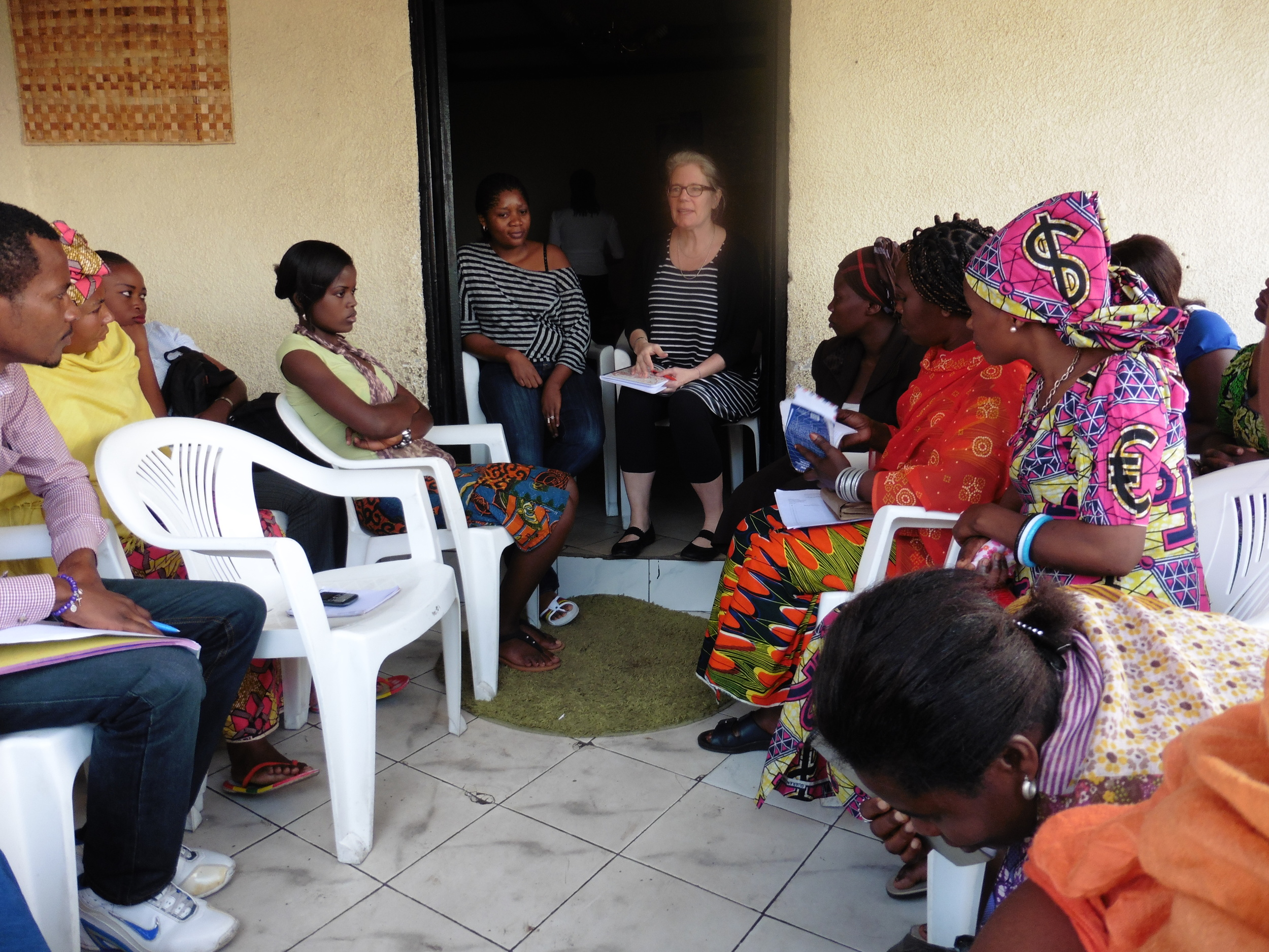 Seattle University Professor Serena Cosgrove working with our partners at HOLD-DRC.