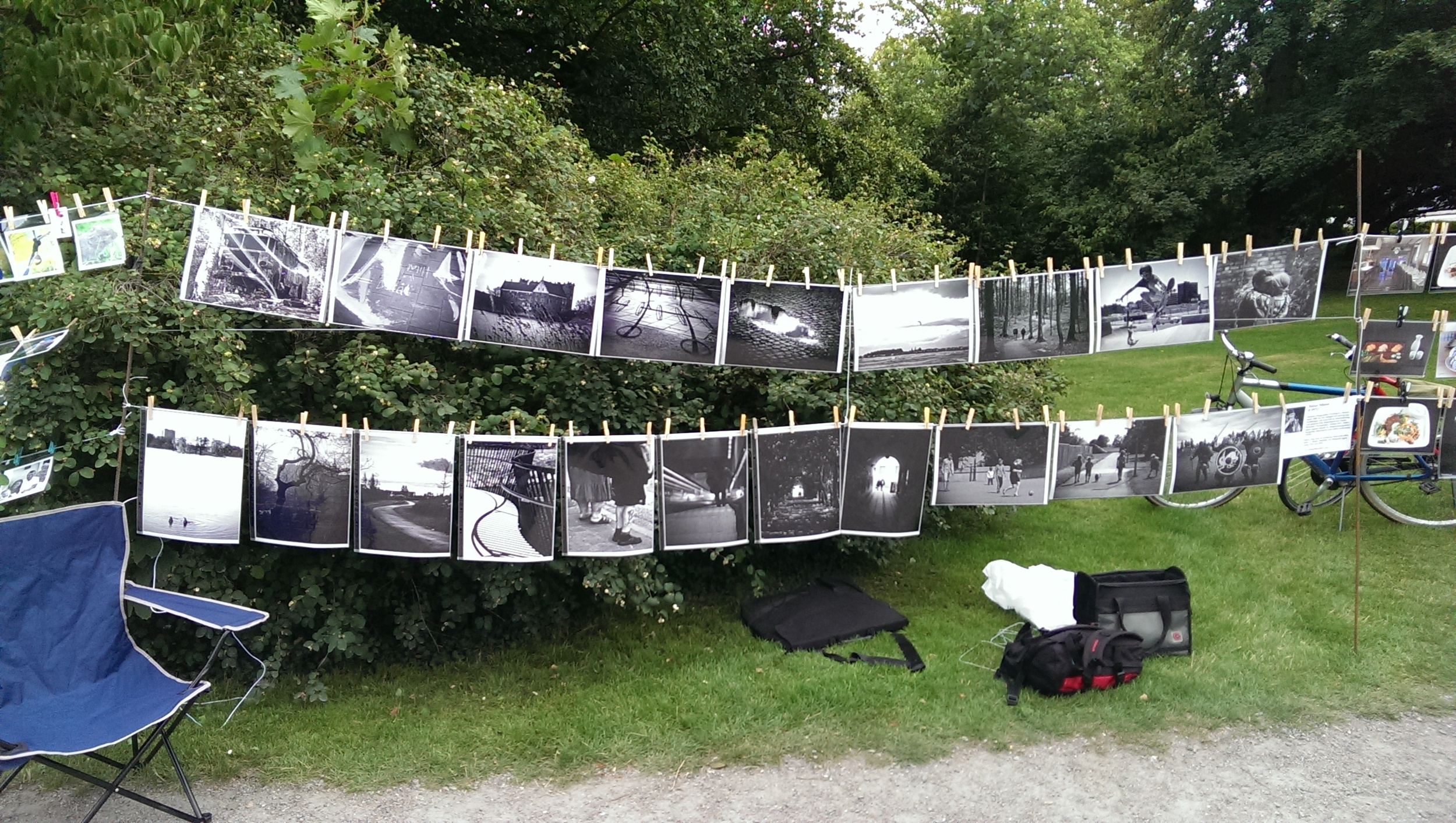 My twenty black and white prints at the Linan 2014 event