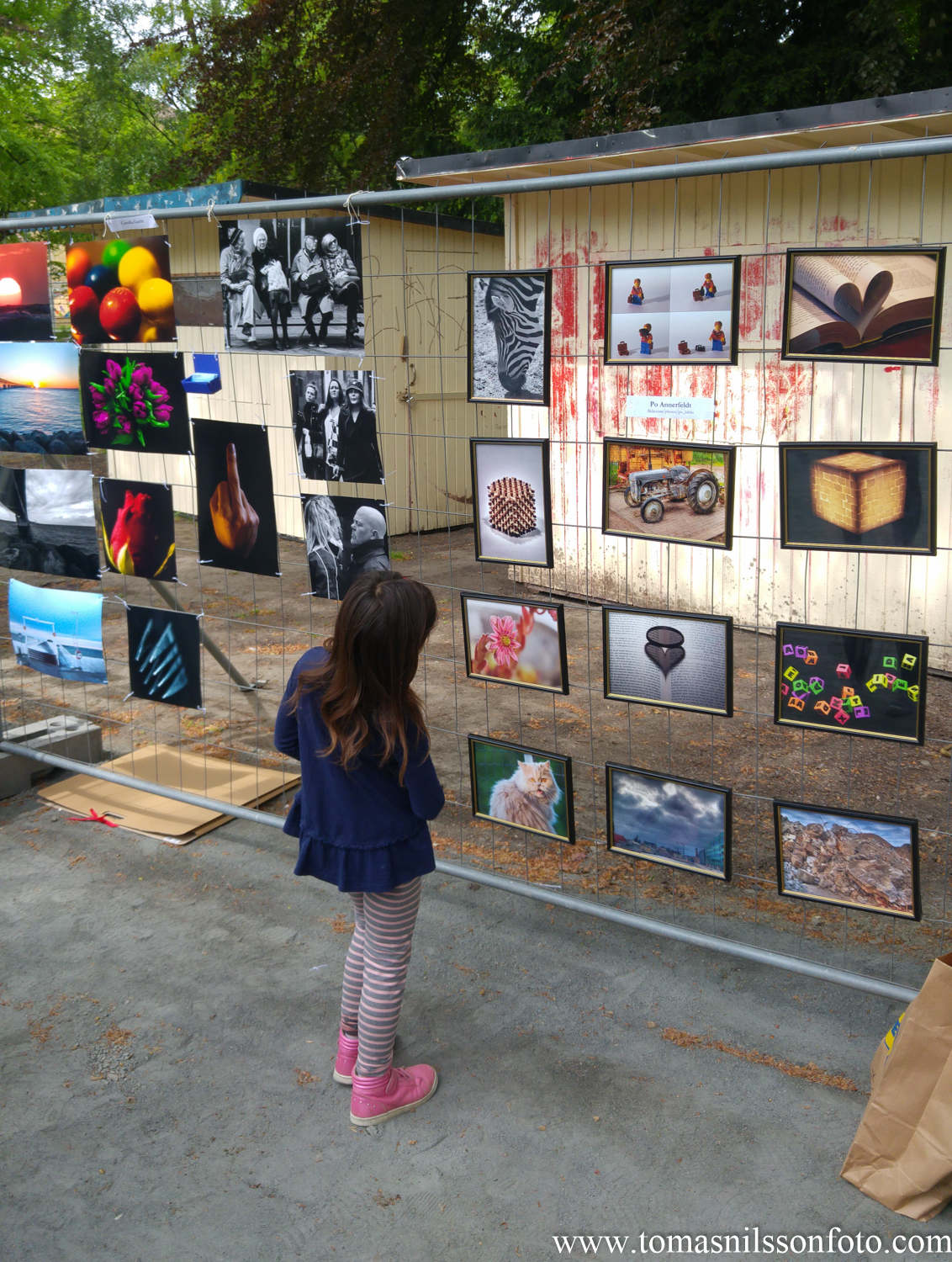We had people of all ages looking at the photos on display.
