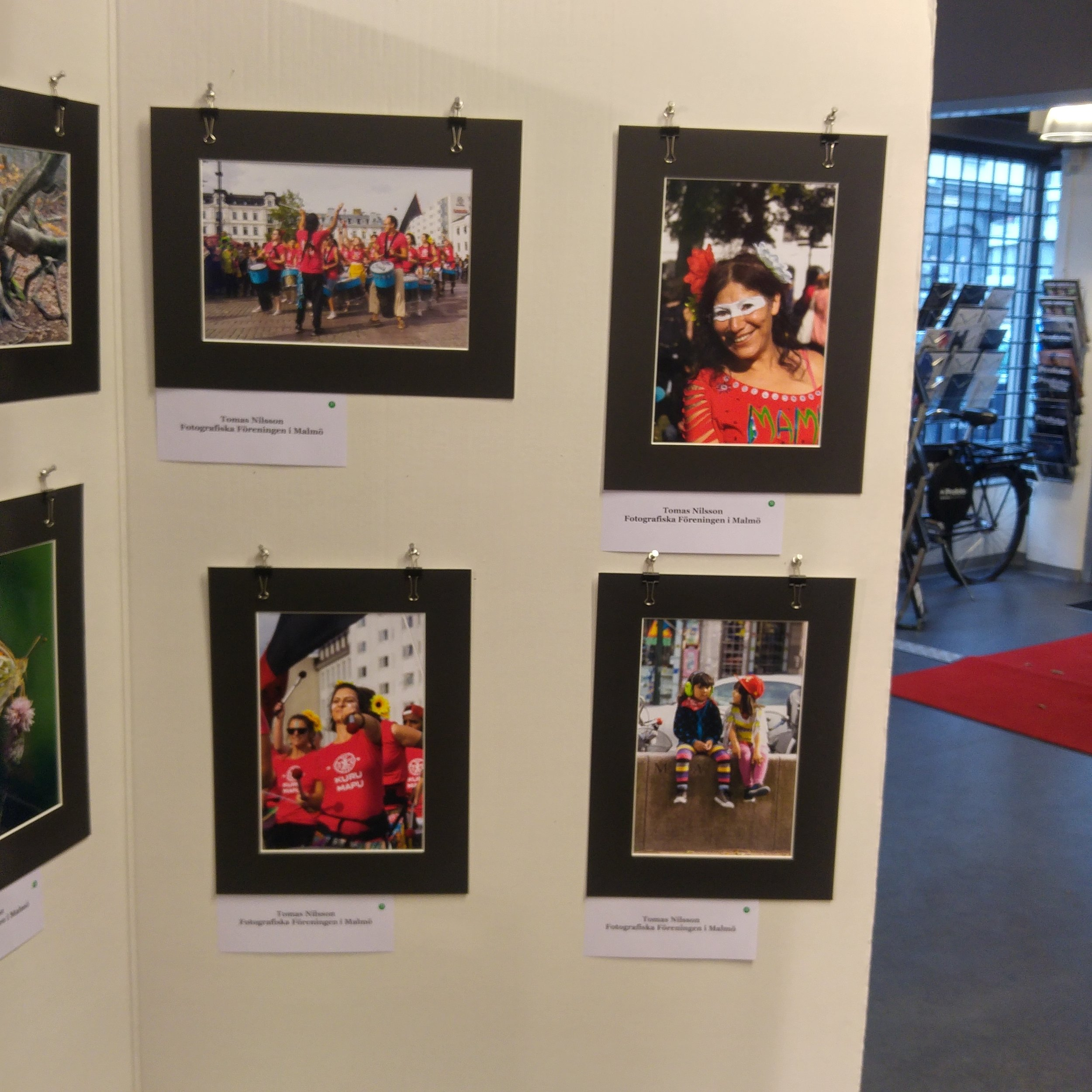 My four photos on display on Saturday when my photo club hosted the 16th Malmö International Exhibition of Photographic Art at the Scandinavian Photo camera store in Malmö.