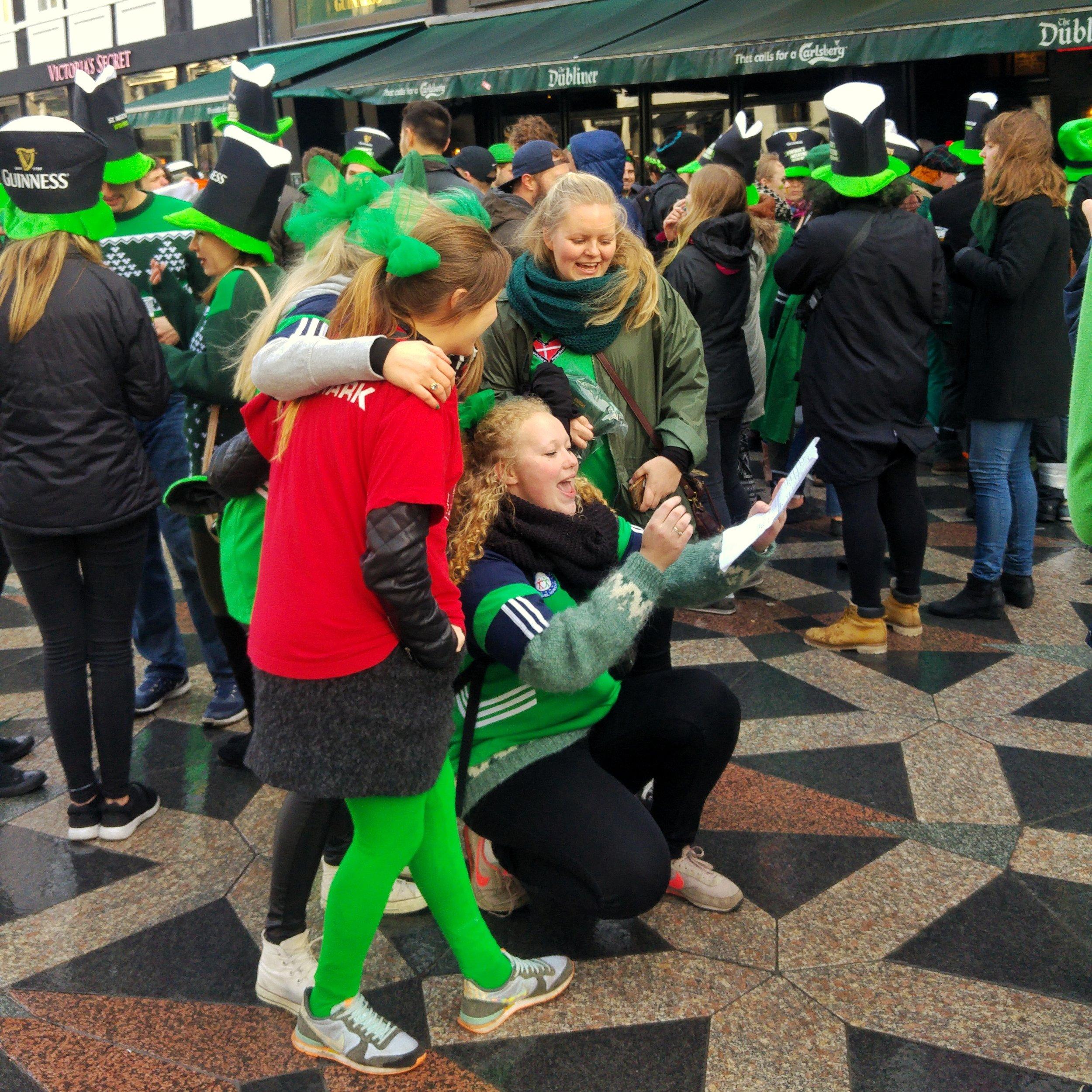 Sing-along outside the Dubliner