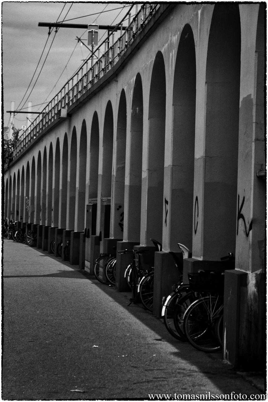 Arches under the northbound railway