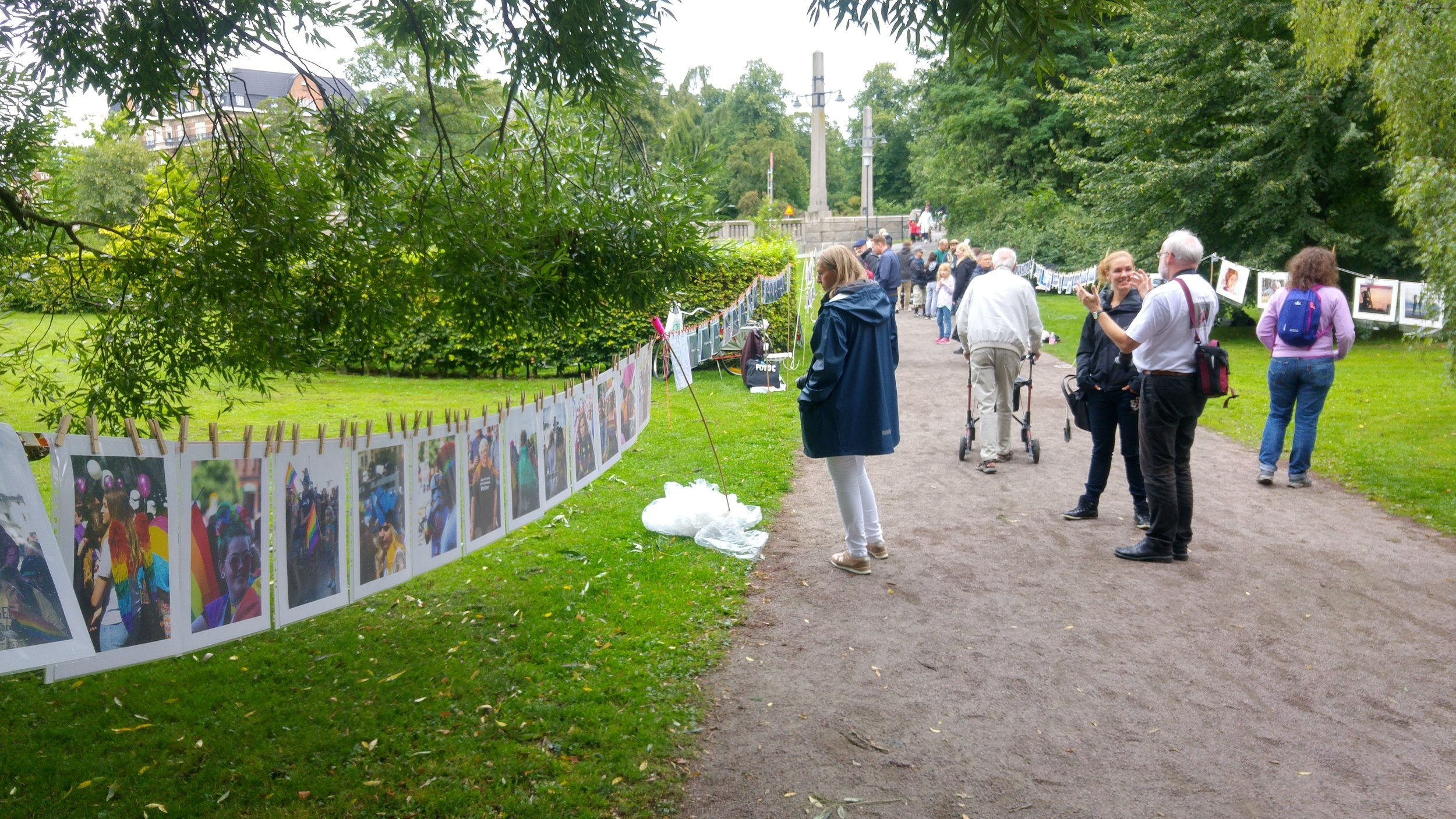 Linan 2017 (The Line) at the City Library Park in Malmö