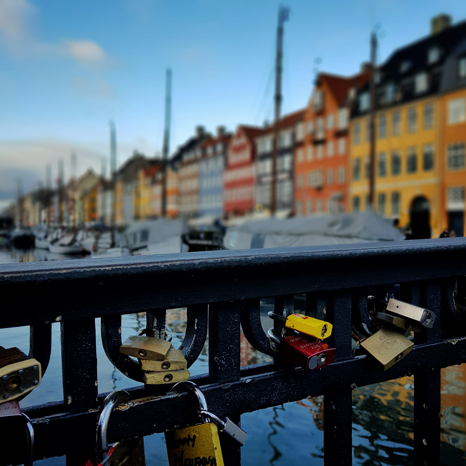 January 5 - Love locks in Copenhagen