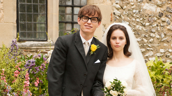 Oscar nominees Eddie Redmayne and Felicity Jones in, The Theory of Everything