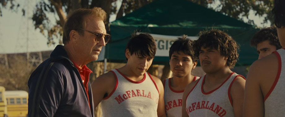 Kevin Costner as Coach Jim White in, McFarland