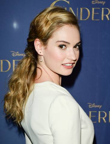 Lily James, the star of Cinderella