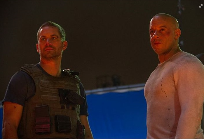 The last scene Paul Walker and Vin Diesel filmed together