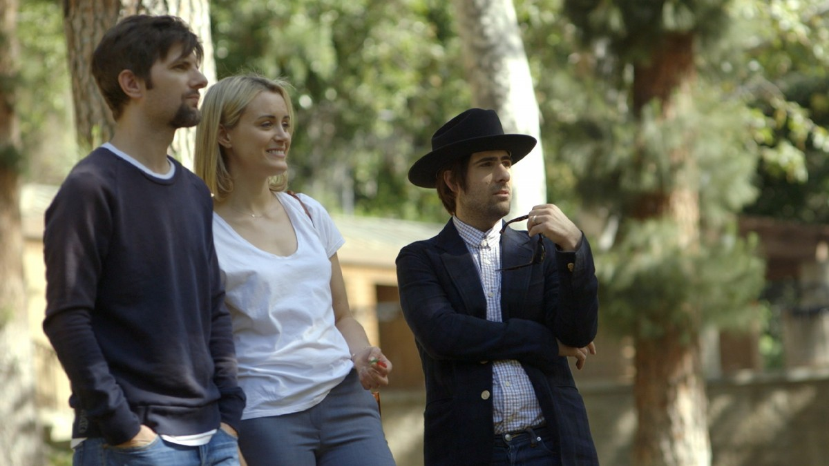 Adam Scott, Taylor Schilling and Jason Schwartzman in, The Overnight