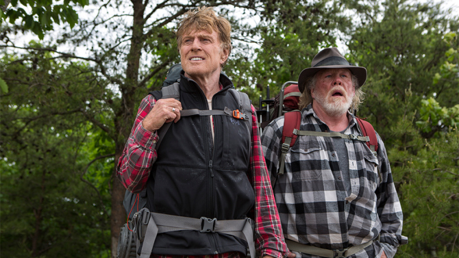 Robert Redford and Nick Nolte in, A Walk in the Woods