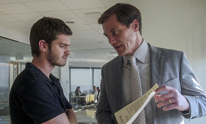 Andrew Garfield and Michael Shannon in, 99 Homes