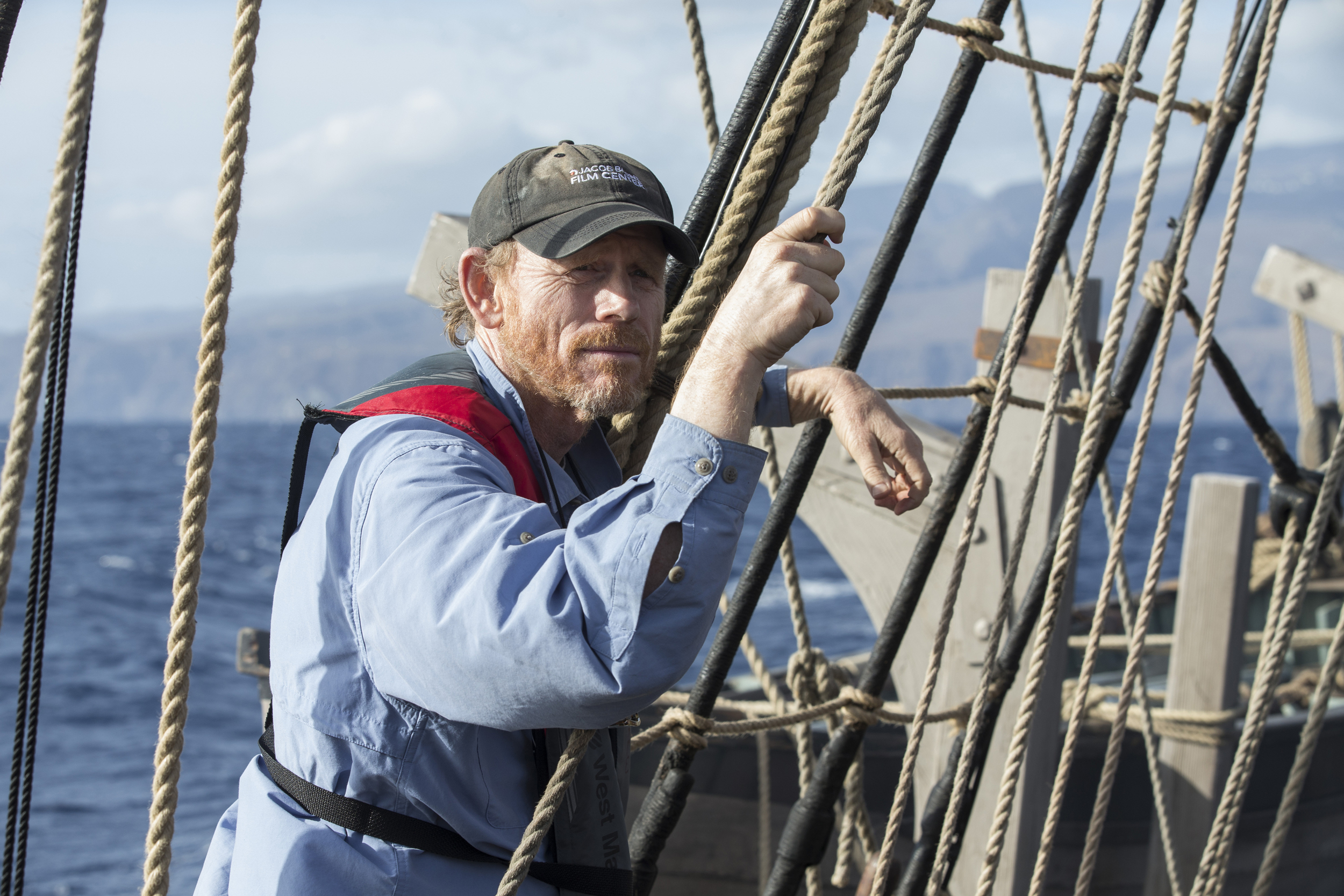 """Ron Howard on the set of, """"In the Heart of The Sea"""""""