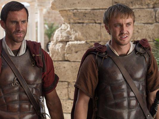 Joseph Fiennes and Tom Felton in, Risen