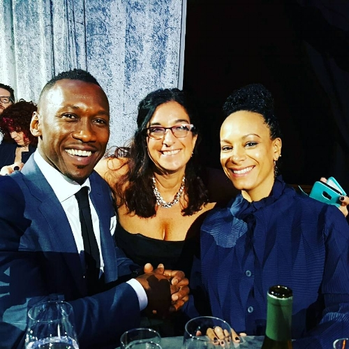 with moonlight's best supporting oscar winner mahershala ali and his lovely wife, critic's choice awards 2016