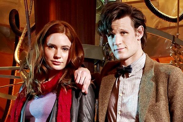 Karen Gillan and Matt Smith, Dr Who