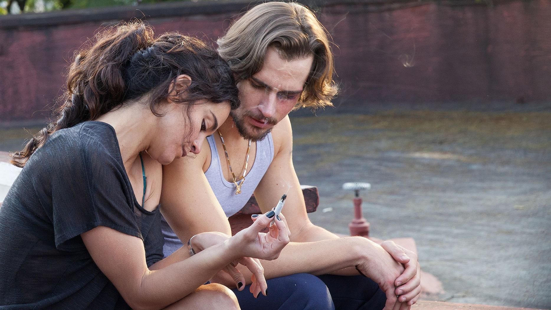 Alice Braga as Teresa Mendoza, Jon Ecker as Guero in Queen of the South Season1