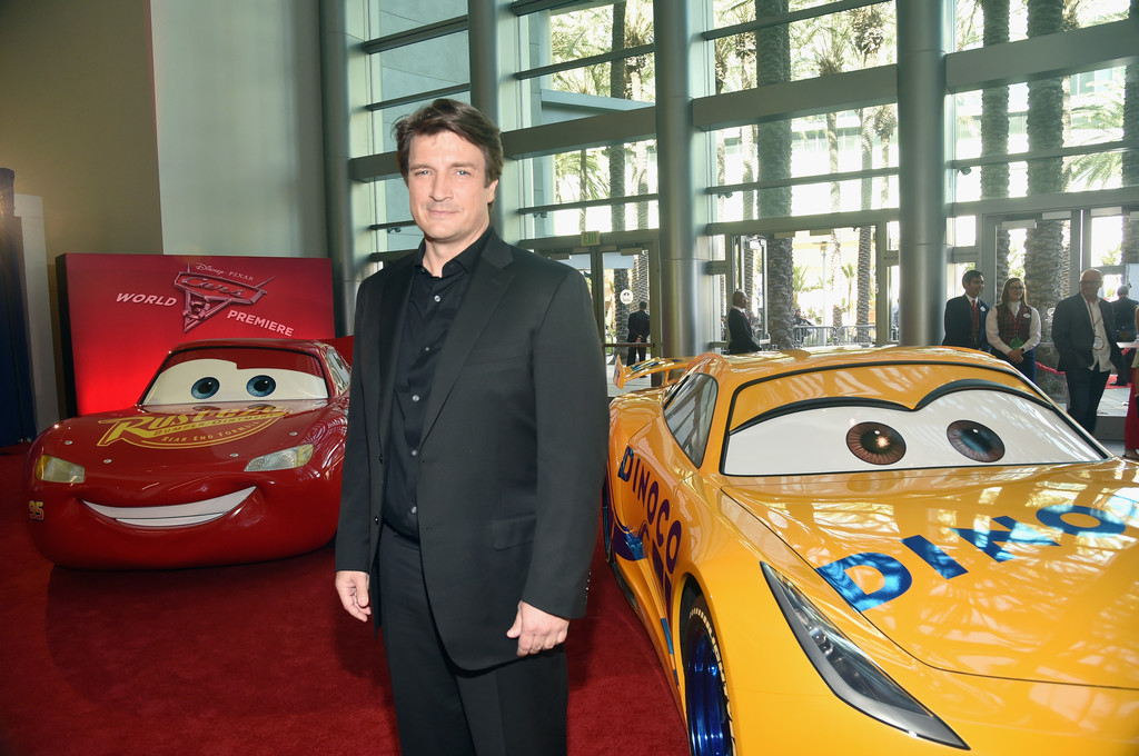 Nathan Fillion at the World Premiere of Cars 3 in Anaheim, California ( Disneyland) June 10/17