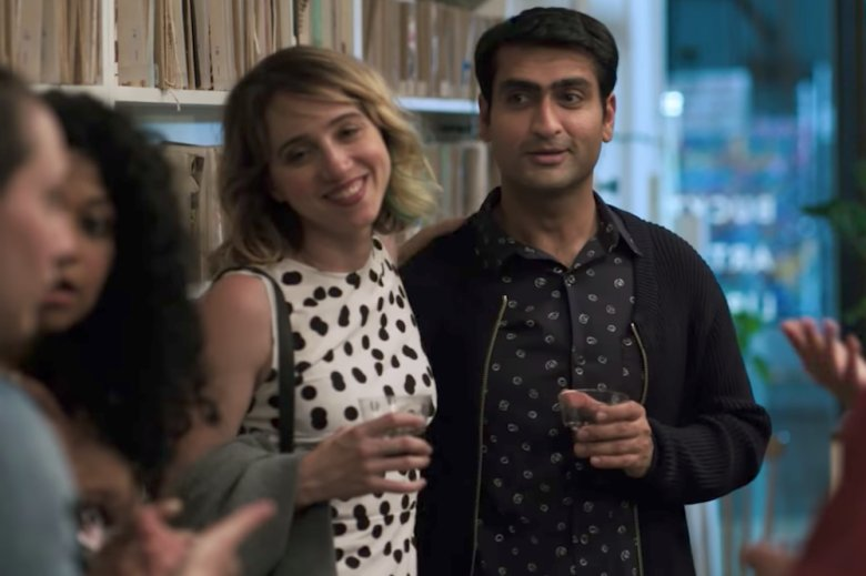 Zoe Kazan and Kumail Nanjiani in, The Big Sick